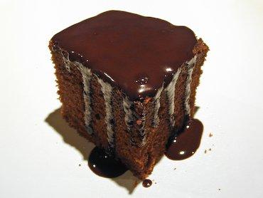 Gâteau au Chocolat Aérien, Glacé Ganache