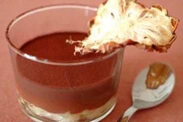 Gelée au Chocolat, Ananas et Violette