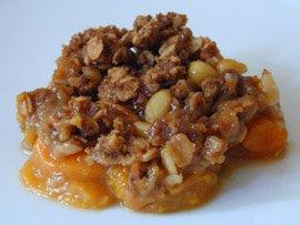 Crumble Abricot et Melon aux Pignons de Pin