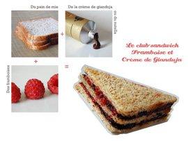 Le Club-sandwich Framboise et Crème de Gianduja