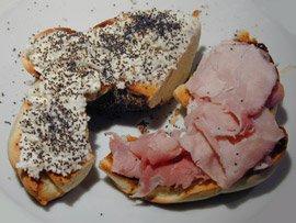 A Half Bagel Sandwich