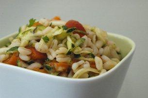 Salade de Blé Tendre, Courgette et Abricot