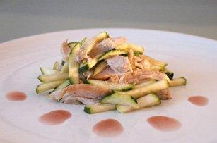 Salade Courgette et Poulet au Vinaigre de Framboise