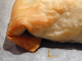 Leek and Apricot Strudel with Pinenuts