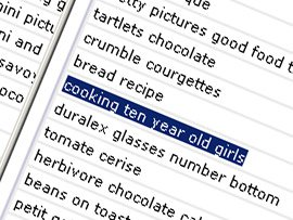Cooking Ten Year Old Girls and Other search phrases