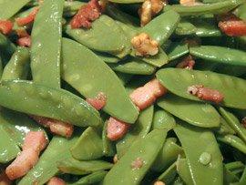 Salade de Pois Gourmands aux Lardons et aux Noix