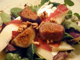 Salade Figue et Poire à la Bresaola