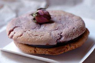 Macaron Violette Chocolat