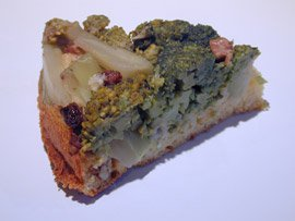 Broccoli and Cornmeal Upside Down Cake