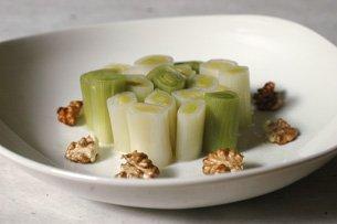 Salade Tiède de Poireaux aux Noix Fraîches