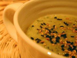 Soupe de Courgette au Sésame
