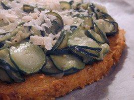 Zucchini Polenta Tart