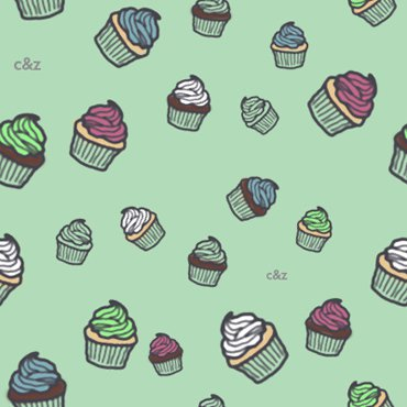 Cupcakes (green)