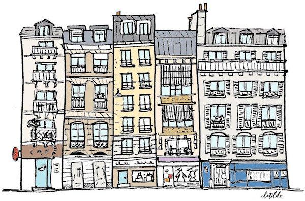 Montmartre apartment buldings