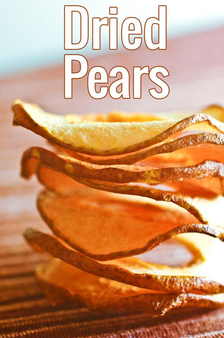 Des disques de poires séchées à grignoter, à servir avec du fromage ou du gibier, à mettre dans des scones, des biscuits ou un granola.