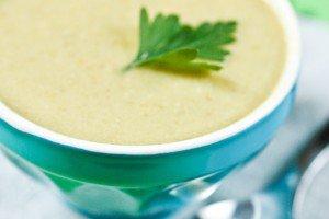 Soupe de haricots verts aux amandes