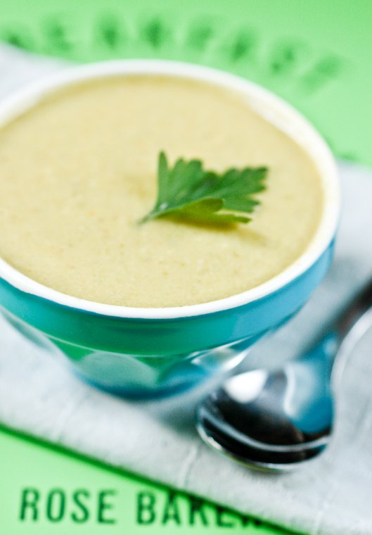 Soupe de haricots verts aux amandes Recette