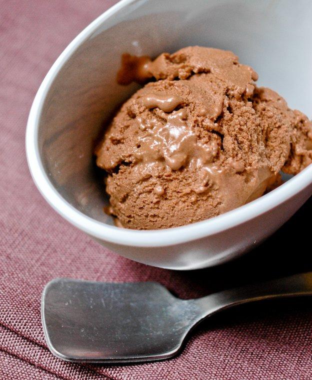 Glace au yaourt et au chocolat Recette