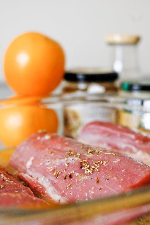 Filet mignon de porc à l'orange et au romarin Recette