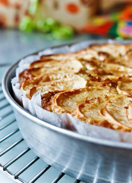 Gâteau au yaourt, érable et pomme