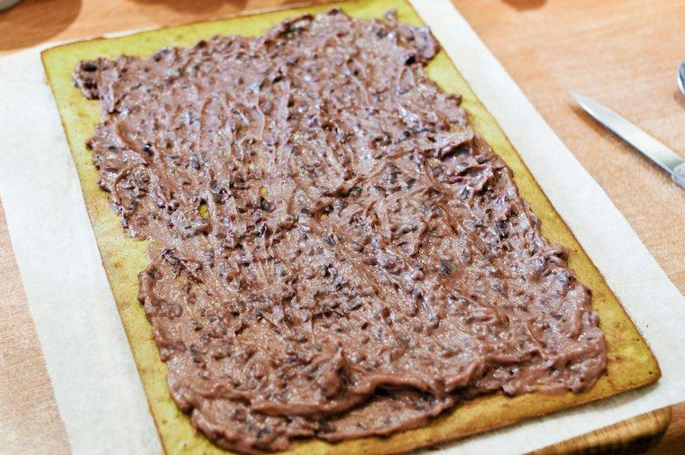 Gâteau roulé matcha et adzuki