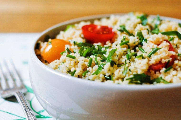 Salade de semoule aux herbes Recette