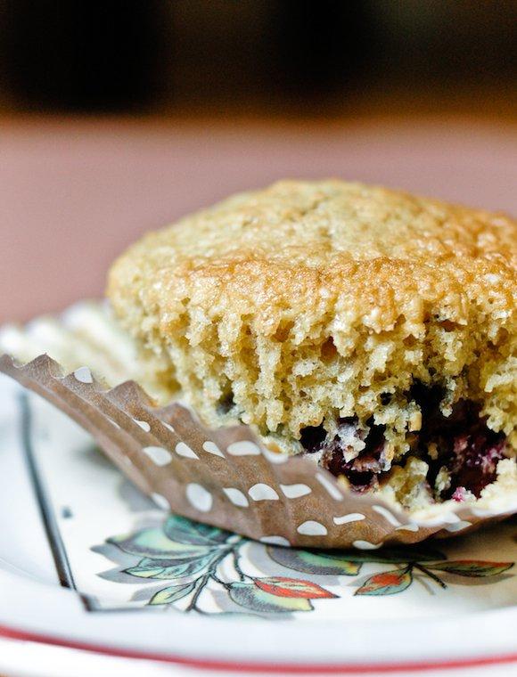 Muffin aux myrtilles et son d'avoine