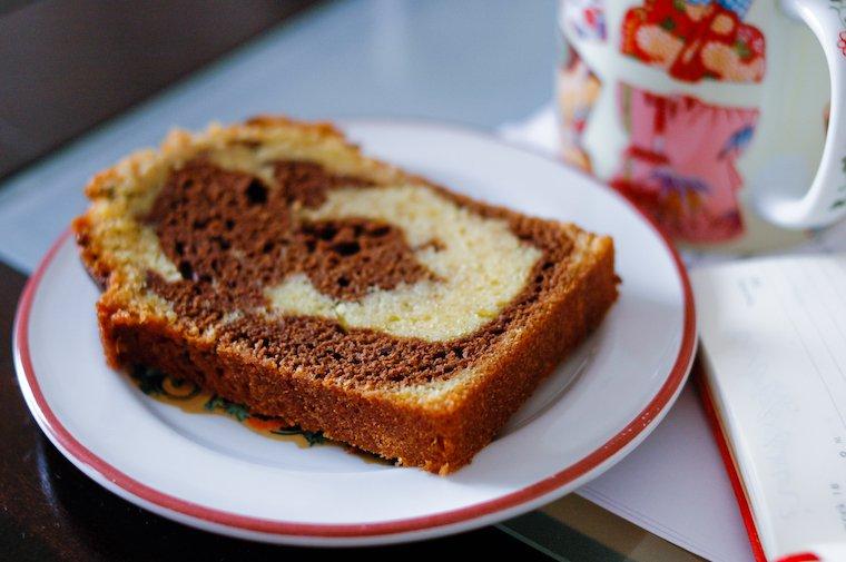 Gâteau marbré au chocolat Recette