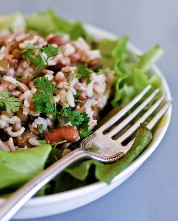 Riz et haricots en salade Recette