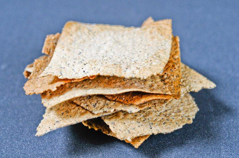 Crackers à l'huile d'olive et aux graines