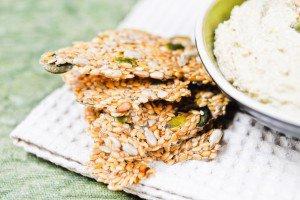 Crackers crus aux graines de lin