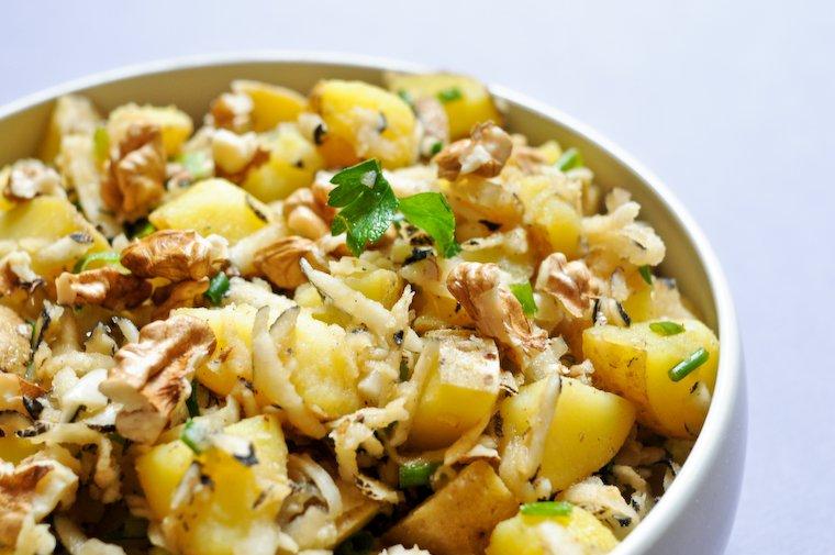 Salade de pommes de terre et radis noir Recette