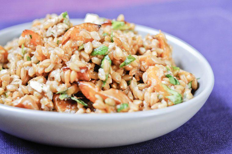Salade de petit épeautre et potimarron rôti Recette