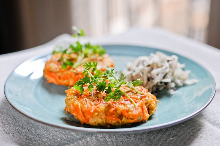 Galettes carottes et céréales