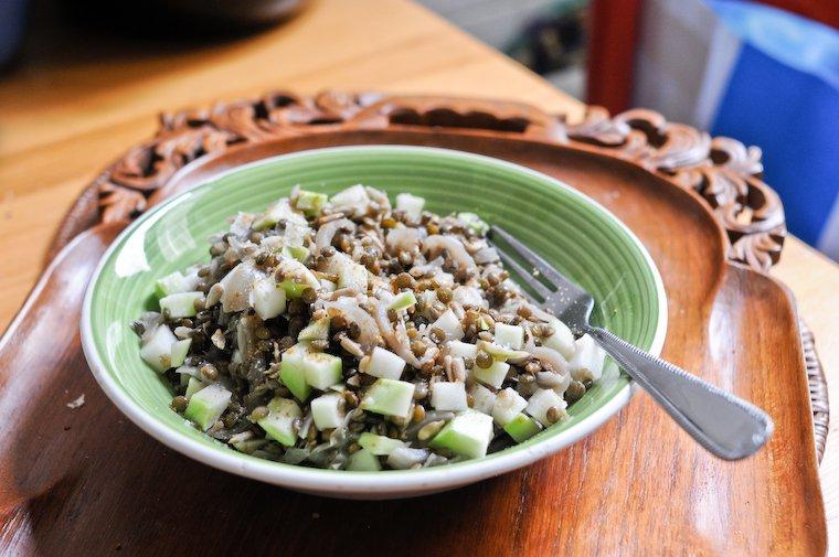 Salade de lentilles et chou-rave