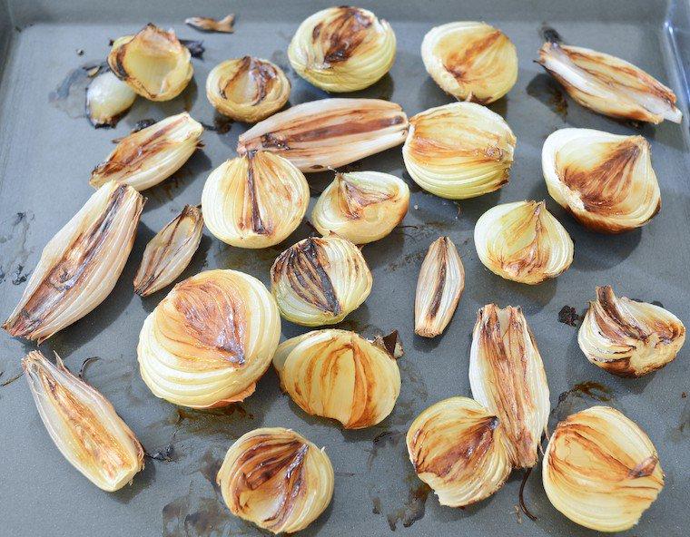 Oignons rôtis Recette