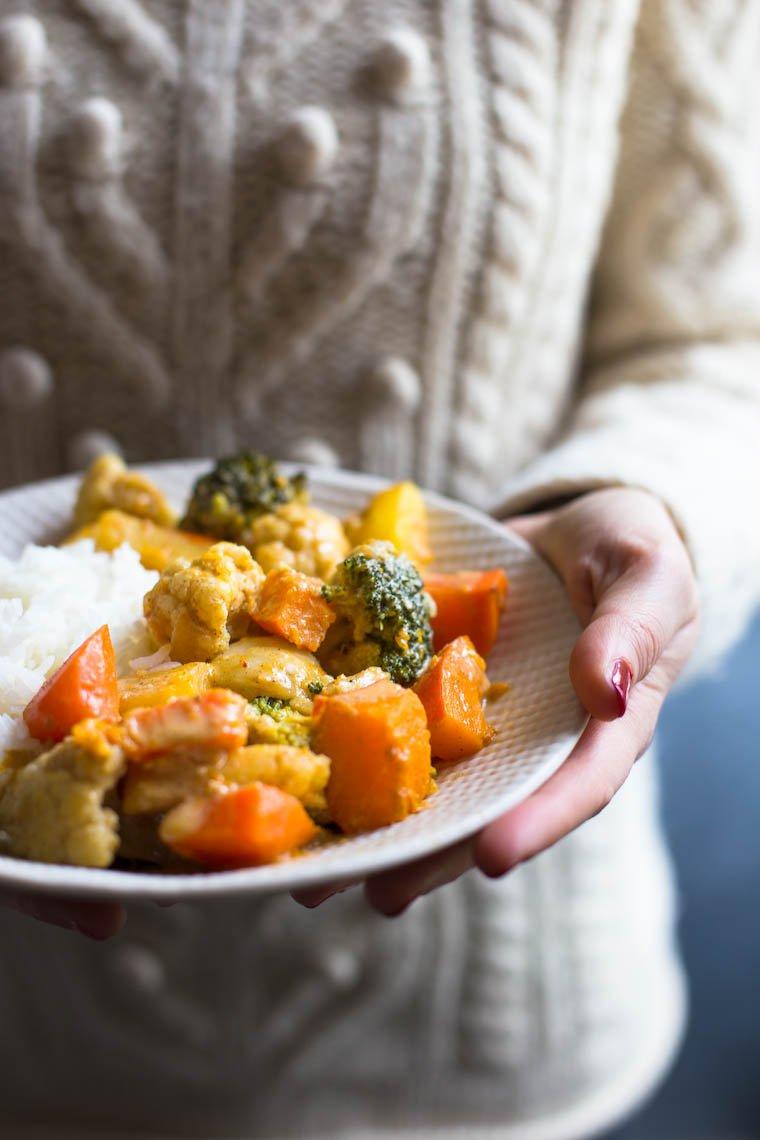 Curry de lŽégumes d'hiver