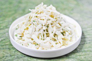 Coleslaw gingembre et aneth