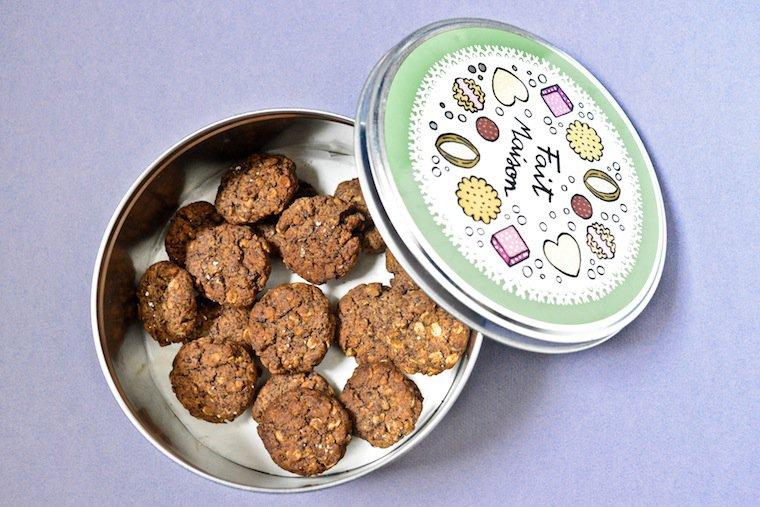 Biscuits noix et chocolat Recette