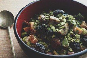 Granola au thé vert et châtaignes, photo de Chika