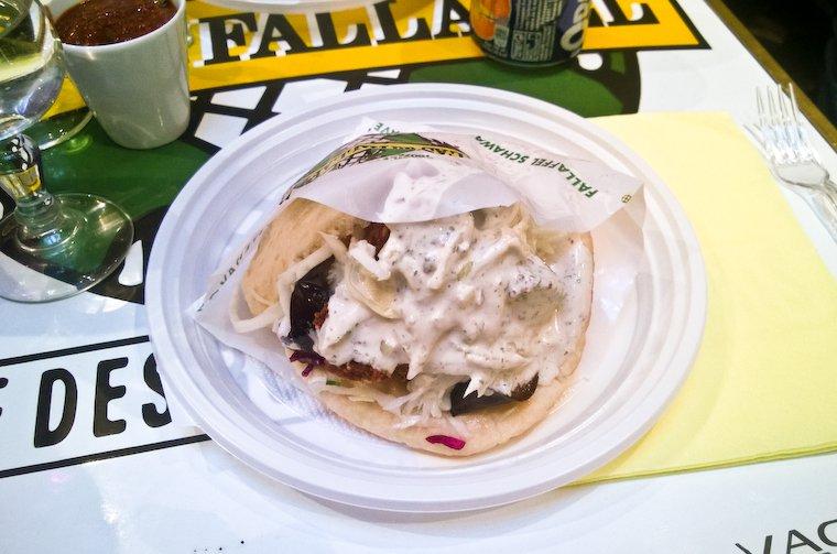 Sandwich falafel à l'As du Fallafel