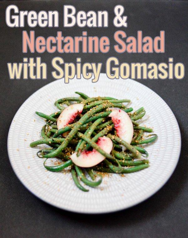 Salade de haricots verts et nectarines