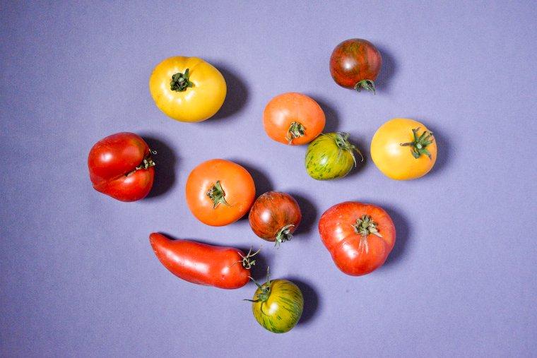 Les tomates anciennes dont je me suis régalée tout l'été.