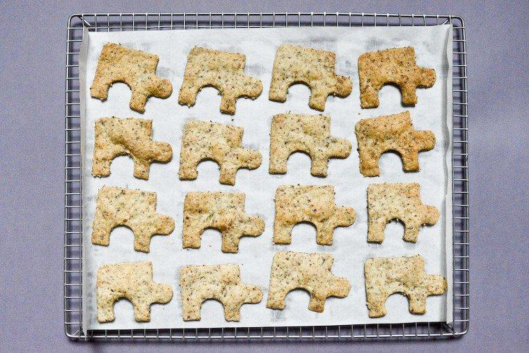Crackers aux algues et aux graines Recette