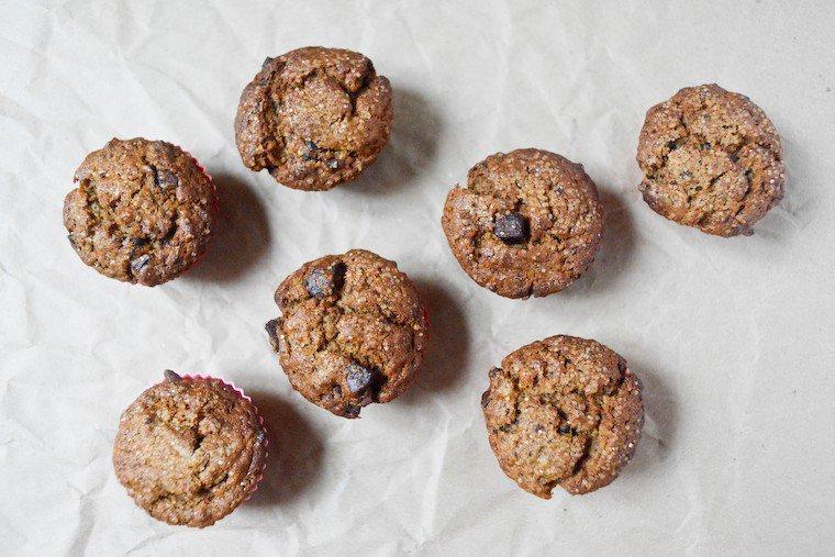 Muffins banane et chocolat (vegan) Recette