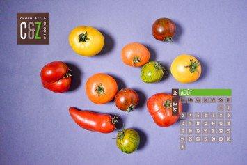 Fond d'écran calendrier : Août 2015