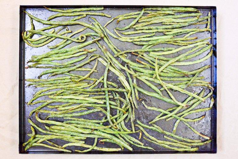 Haricots verts rôtis