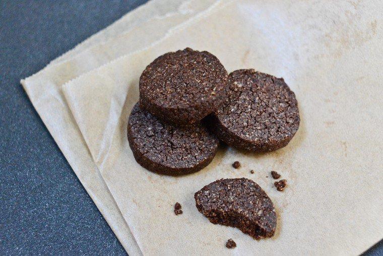 Sablés au chocolat sans gluten (4 ingrédients !) Recette