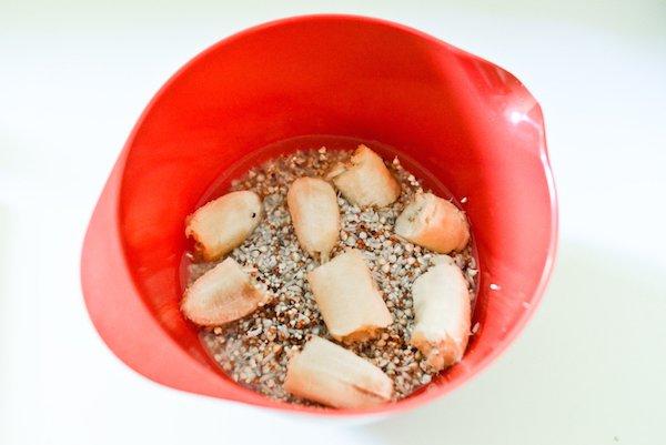 Gaufres au sarrasin germé : préparation de la pâte