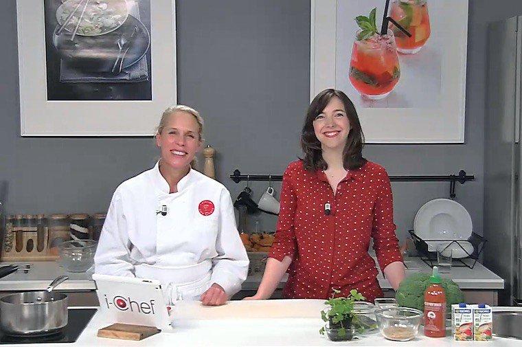 Mon intervention à l'Atelier des Chefs : préparation du Parmentier de brocoli de Veggivore !